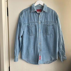 Vintage Marlboro Denim Button Down Shirt